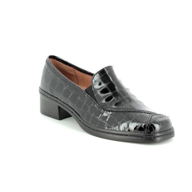 Gabor Comfort Shoes - Black croc - 96.026.97 FRITH