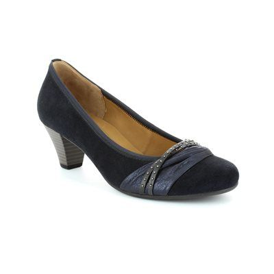 Gabor Gateway 45.481.36 Navy patent-suede heeled shoes