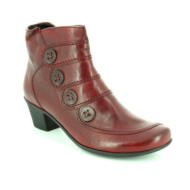 Gabor Georgie 54.691.55 Dark Red ankle boots