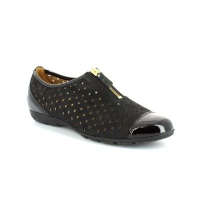 Gabor Gibson 24.164.37 Black patent/suede comfort shoes