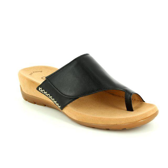 Gabor Hatford 63.738.27 Black sandals