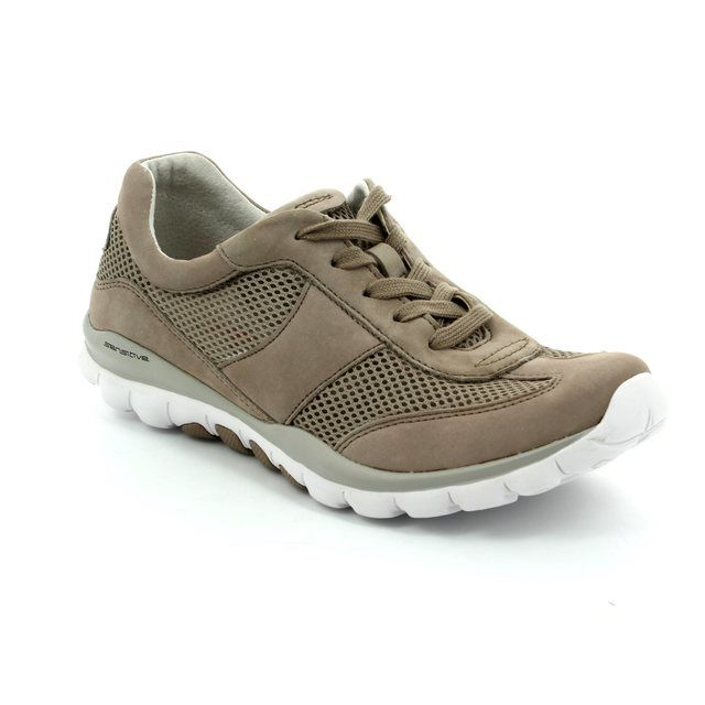Gabor Lacing Shoes - Taupe nubuck - 66.966.33 HELEN