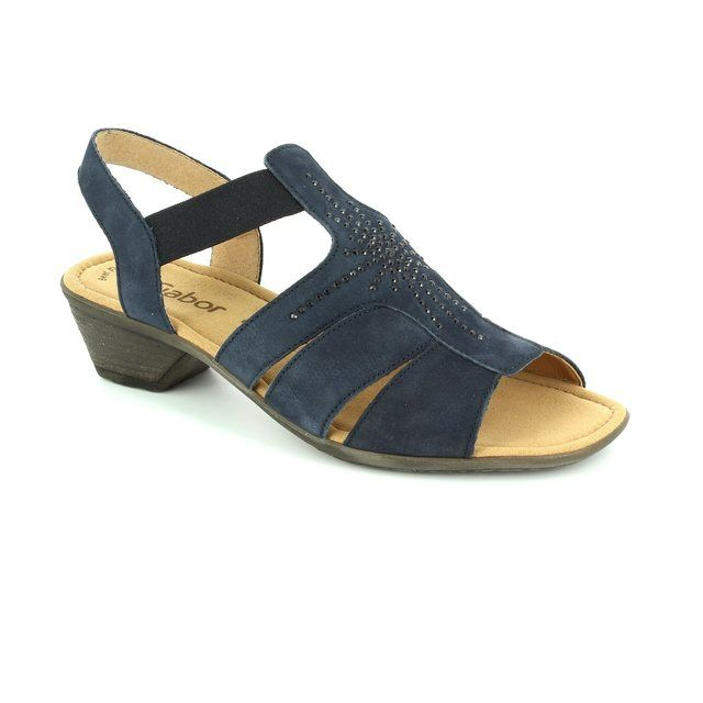 Gabor Honesty Cumo 44.540.16 Navy nubuck sandals