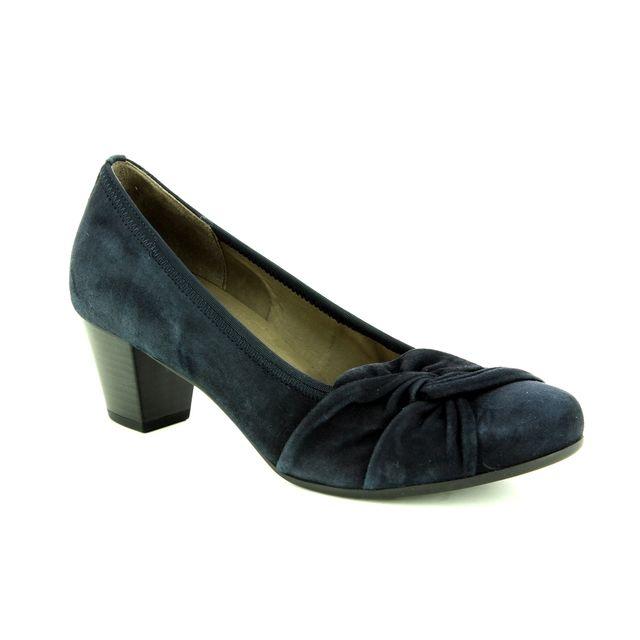 Gabor Heeled Shoes - Navy suede - 95.484.16 JANA