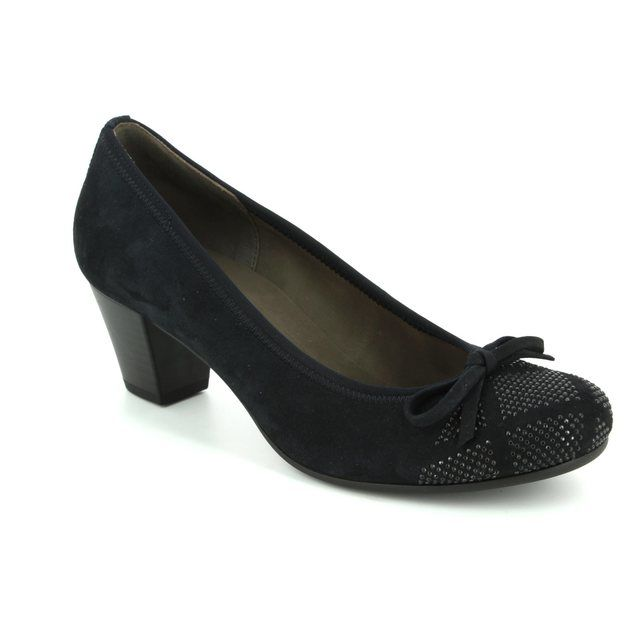 Gabor Heeled Shoes - Navy nubuck - 75.483.16 KAY