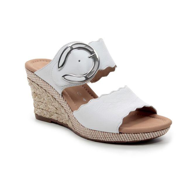 Gabor Kent 22.829.50 White Wedge Sandals