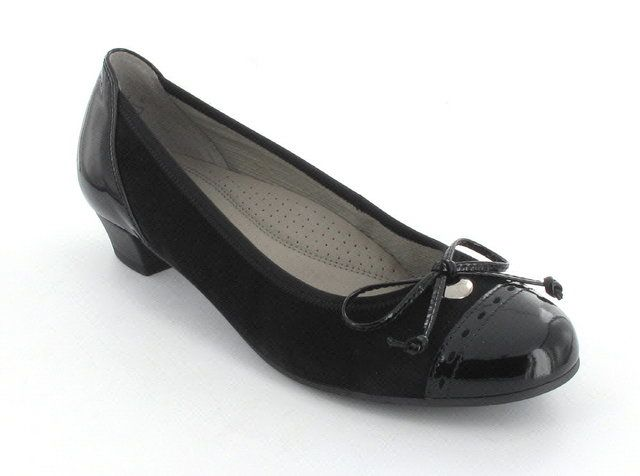 Gabor Kragassi 96.222.47 Black patent/suede heeled shoes
