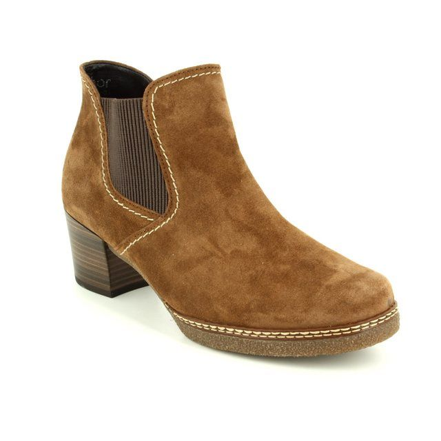 Gabor Ankle Boots - Tan suede - 76.661.34 LILIA