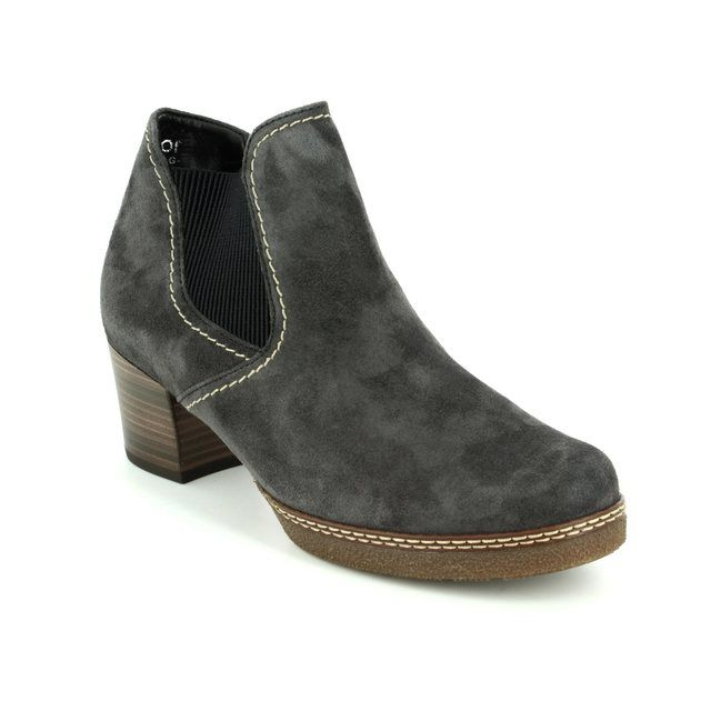 Gabor Ankle Boots - Grey suede - 76.661.39 LILIA