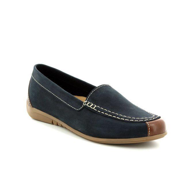 b85b59dd5e2 Gabor California 26.090.26 Navy patent loafers