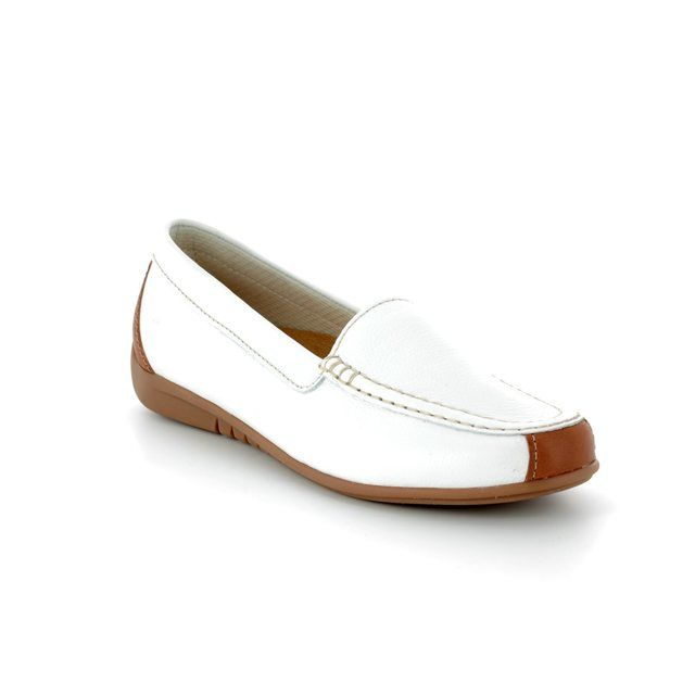 Gabor Loafers - White nubuck - 83.260.21 LOIS