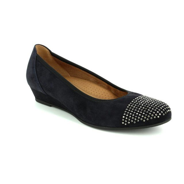 Gabor Mira 52.694.96 Navy suede pumps