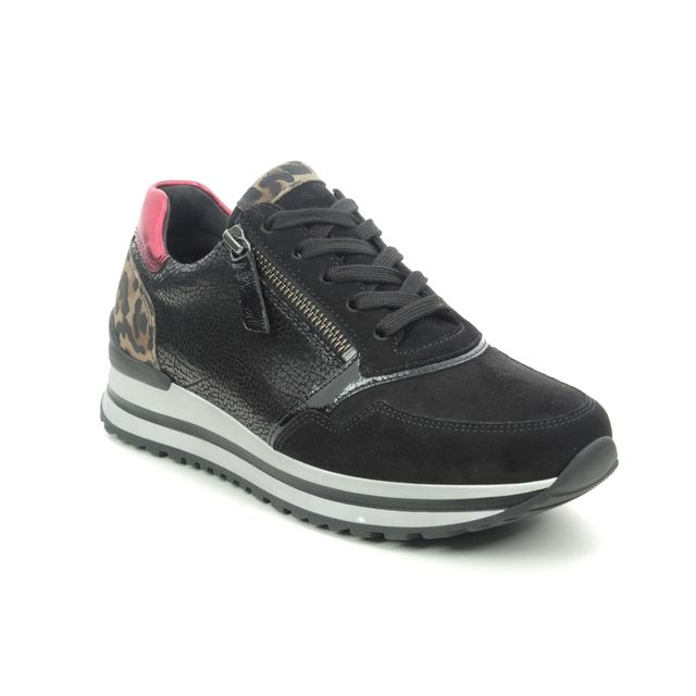 Gabor Trainers - Black leather - 56.528.91 NULON