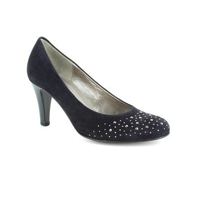 Gabor Opereve 25.212.16 Navy suede high-heeled shoes
