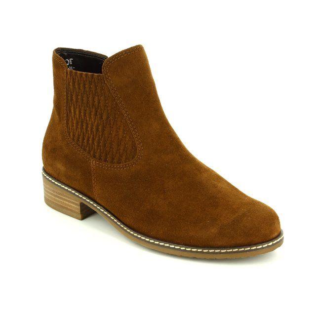 Gabor Chelsea Boots - Tan suede - 72.722.41 PESCARA