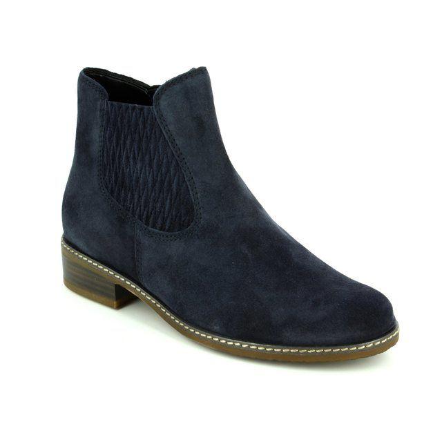 Gabor Chelsea Boots - Navy suede - 72.722.46 PESCARA