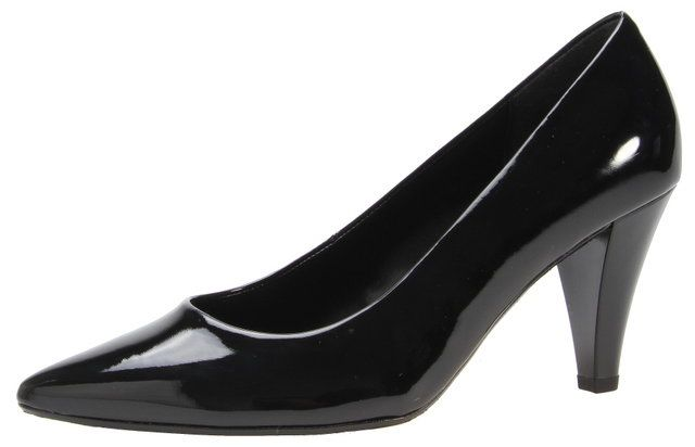 Gabor Pointer 71.280.77 Black patent high-heeled shoes