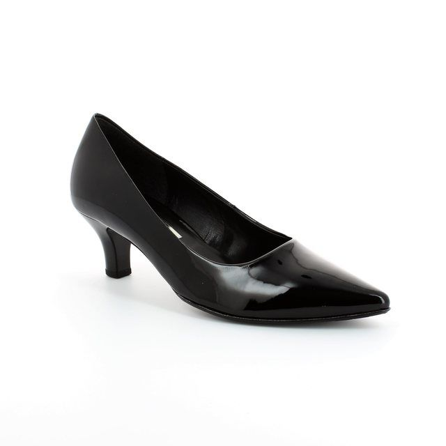 Gabor Pointy 41.250.77 Black patent high-heeled shoes