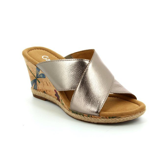 Gabor Wedge Sandals - Pewter - 62.829.64 PURPOSE