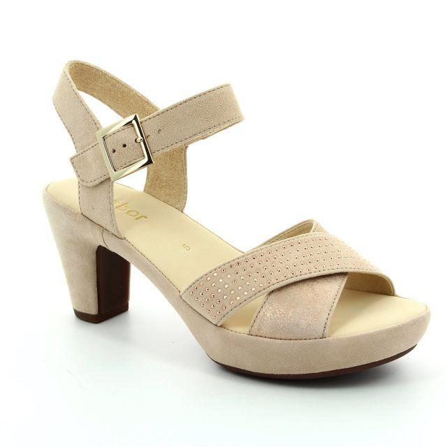 Gabor Ransom 65.752.18 Beige multi Heeled Sandals