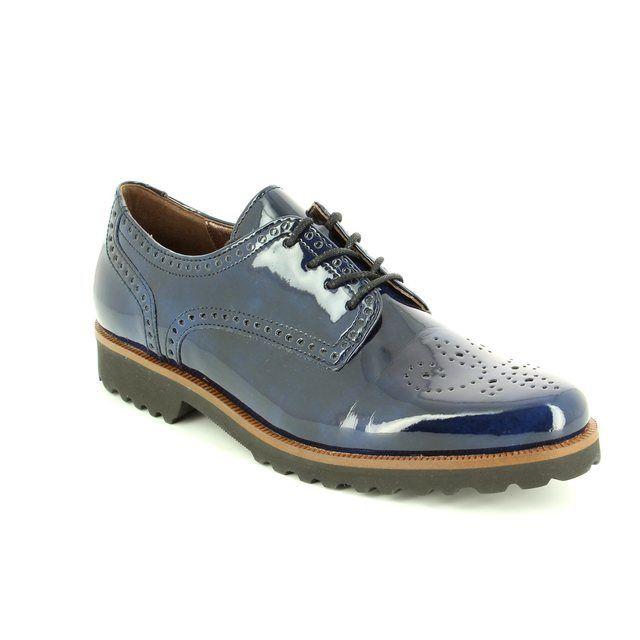 Gabor Regent 51.410.56 Navy patent lacing shoes