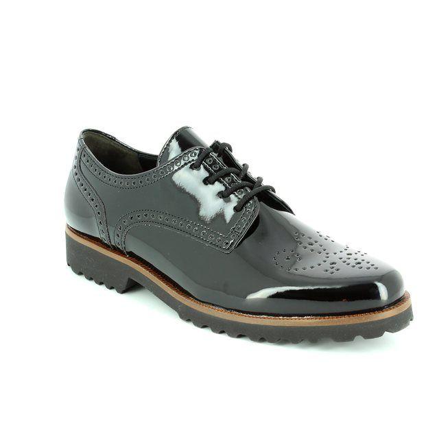 Gabor Regent 51.410.57 Black patent lacing shoes