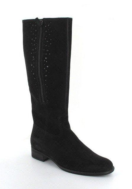 Gabor Rivario 91.645.37 Black nubuck knee-high boots