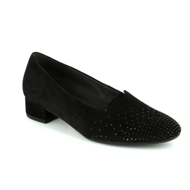 Gabor Shape 62.213.47 Black suede pumps