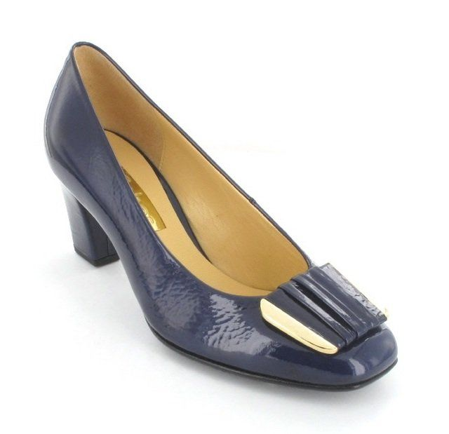 Gabor Sixty 81.411.96 Navy patent high-heeled shoes