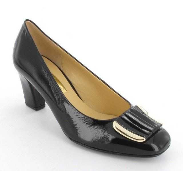 Gabor Sixty 81.411.97 Black patent high-heeled shoes