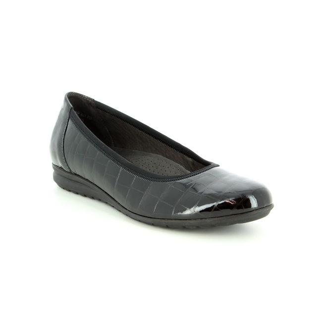 Gabor Pumps - Black croc - 92.020.87 SPLASH