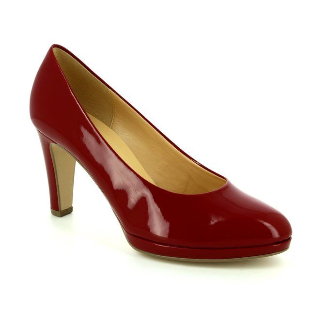 Gabor Splendid 71.270.75 Red patent high-heeled shoes