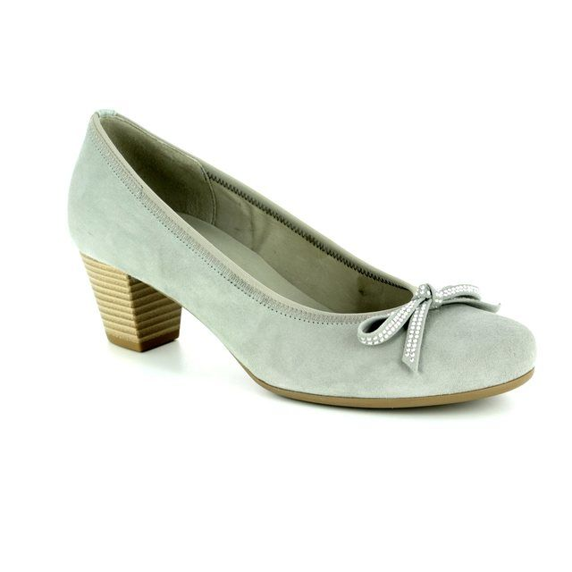 Gabor Heeled Shoes - LIGHT GREY SUEDE - 85.483.19 STAINBY