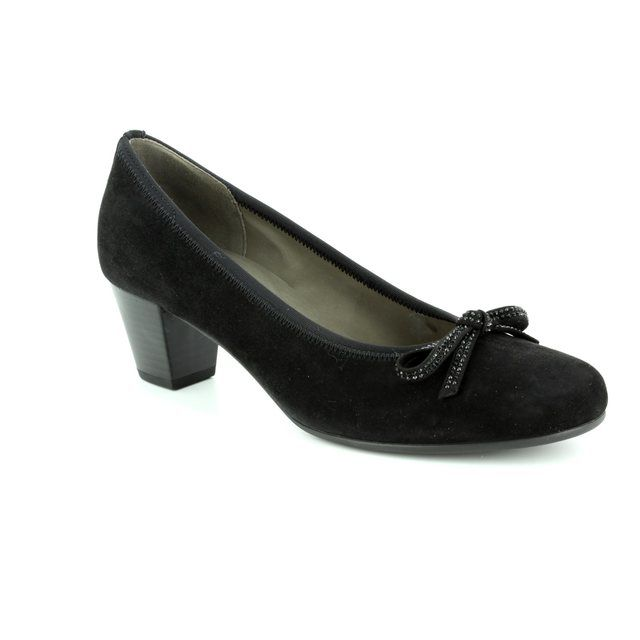 Gabor Heeled Shoes - Black suede - 85.483.37 STAINBY