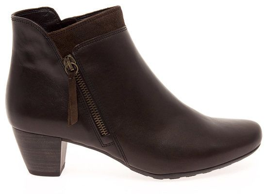 Gabor Tropez 92.821.25 Brown waxy ankle boots