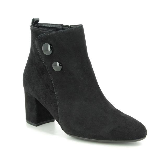 Gabor Ankle Boots - Black Suede - 35.802.17 VENUE