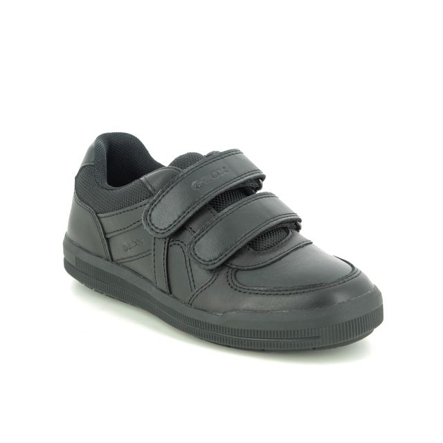 Geox Everyday Shoes - Black leather - J844AE/C9999 ARZACH BOY VEL