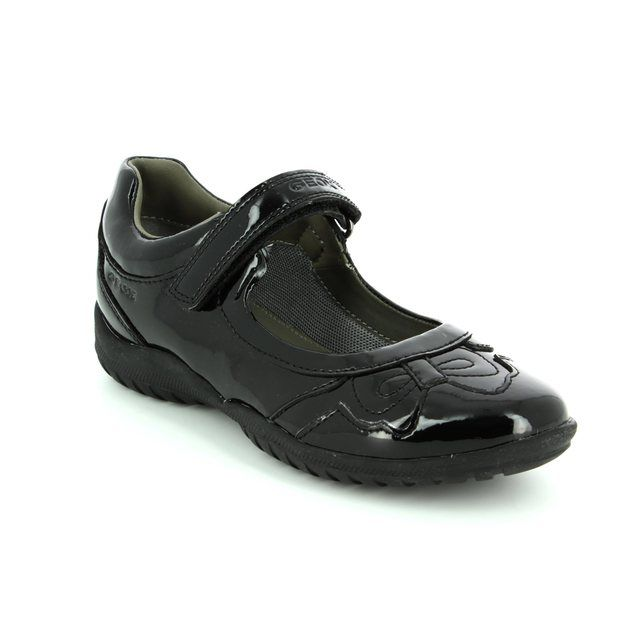 Geox Everyday Shoes - Black patent - J54A6A/C9999 SHADOW