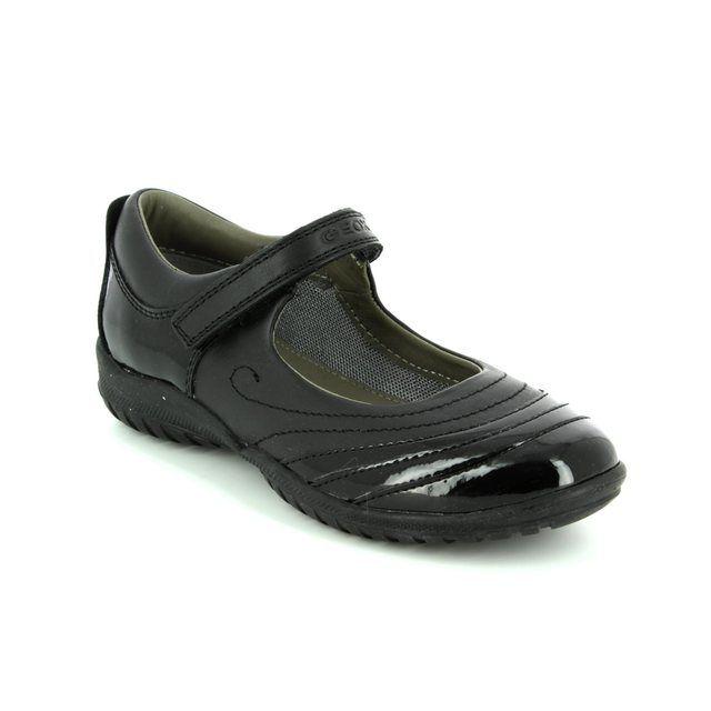 Geox Everyday Shoes - Black patent - J44A6B/C9999 SHADOW B