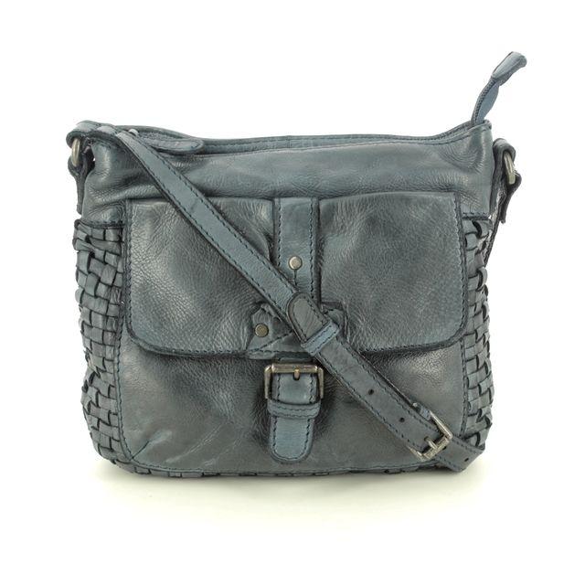 Gianni Conti Como Interweave 4594782-492 BLUE LEATHER handbag