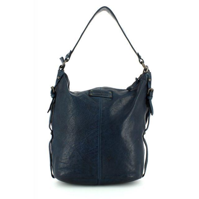 Gianni Conti Handbag - BLUE LEATHER - 4203354/43 SLOUCHY