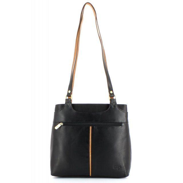 Gigi Handbag - Black/Honey - 0544/30 OTHTT 544