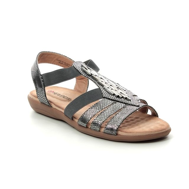 Heavenly Feet Agneta 9125-51 Pewter sandals