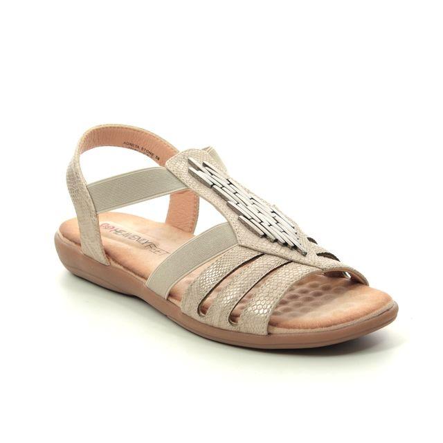 Heavenly Feet Comfortable Sandals - Stone - 9125/93 AGNETA