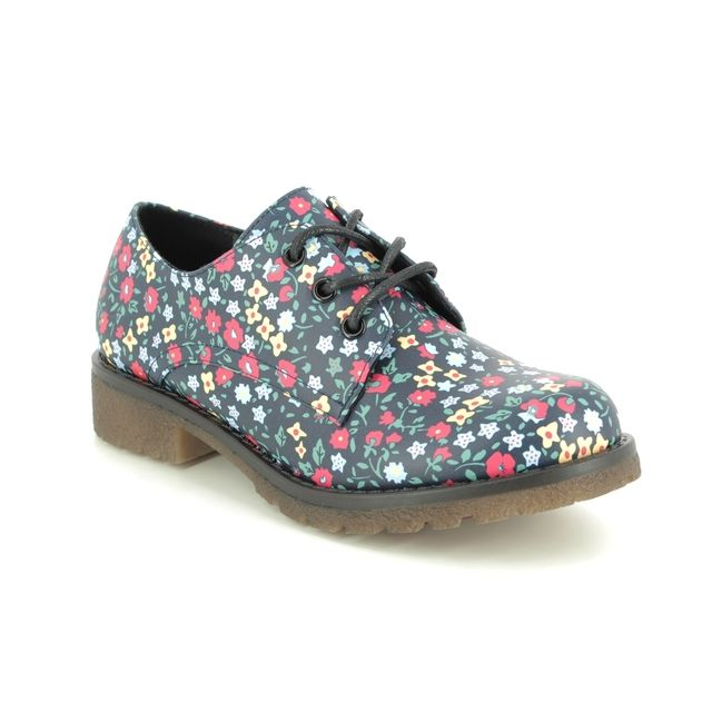Heavenly Feet Brogues - Navy Floral - 0109/72 ANGEL