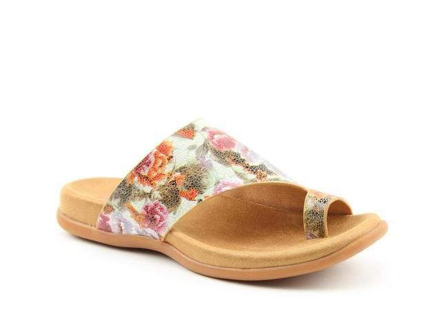 Heavenly Feet Toe Post Sandals - Beige Floral - 0115/57 BEVERLEY