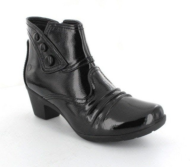 Heavenly Feet Ankle Boots - Black patent - 1001/30 BRAZIL
