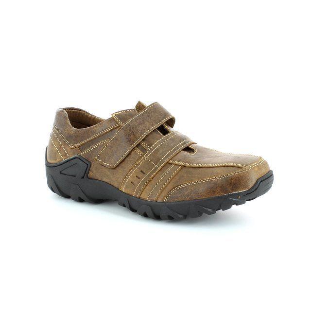 Heavenly Feet Brett 4015-20 Brown nubuck casual shoes