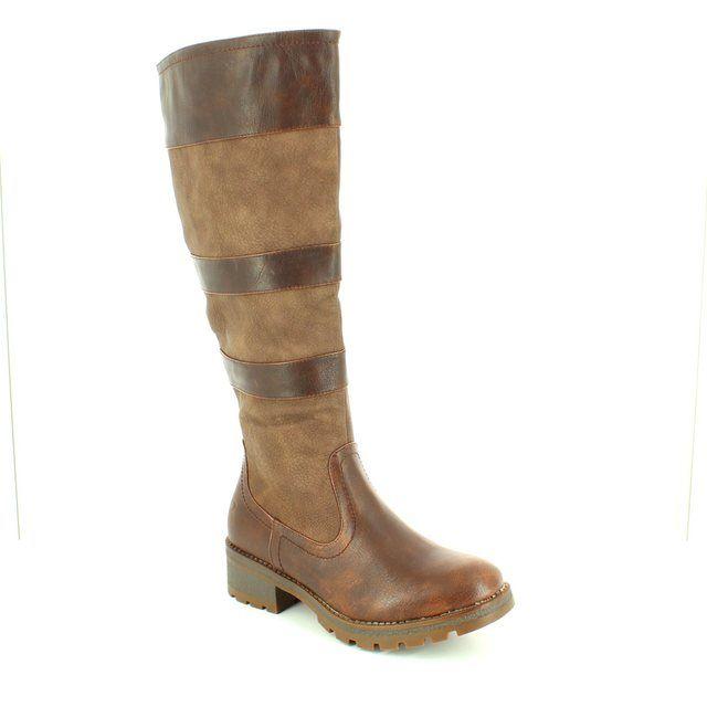 Heavenly Feet Burley 62 6007-20 Chocolate brown knee-high boots