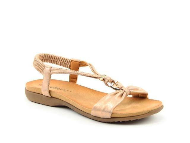 Heavenly Feet Campari 9115-60 Rose Flat Sandals